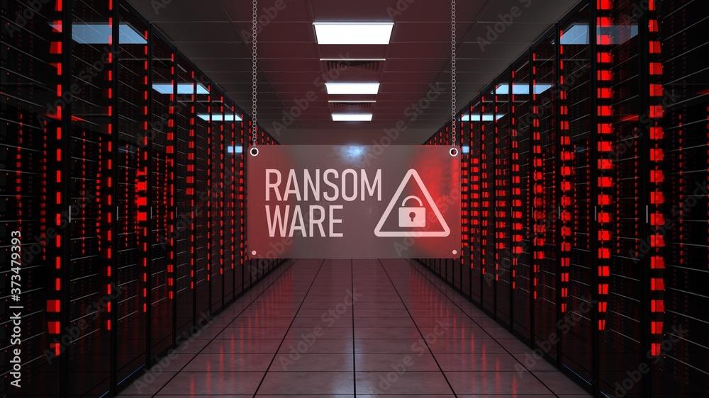 Fototapeta Alert Data Center Ransomware