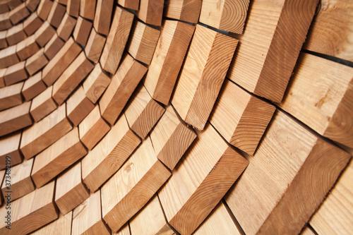 Valokuvatapetti Abstract round wooden wall background texture