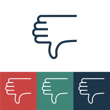 Linear Vector Icon With Thumb ...