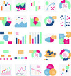 Graph Vector icons set every single icon can easily modify or edit