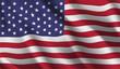 Waving flag of the USA. Waving USA flag