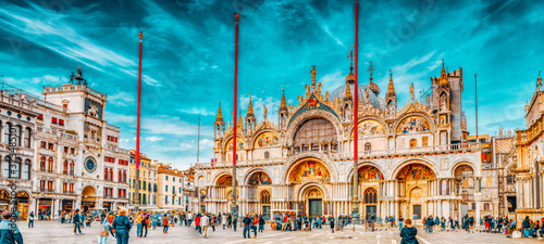 VENICE, ITALY - MAY 11, 2017 : Square of the Holy Mark (Piazza San Marco) and St Fototapet