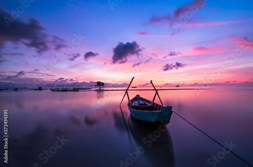 Obraz na plátně coucher de soleil