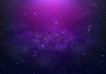 Abstract Starry Space Purple W...
