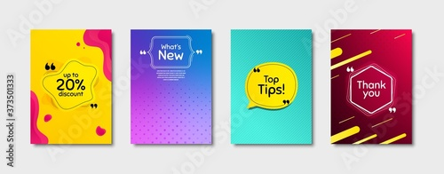 Fototapeta Top tips, 20% discount and whats new