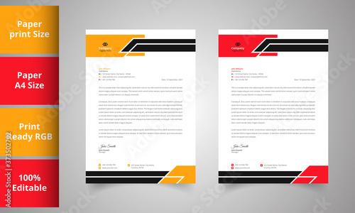 Fototapeta Business style letterhead design obraz