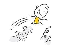 Strichfiguren / Strichmännchen: Sprung, Überwindung. (Nr. 527)