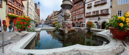 Mittelalterliche Stadt Rothenburg ob der Tauber in Franken Fototapete