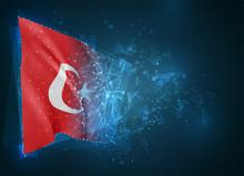 Turkey,  Vector Flag, Virtual ...