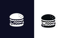 FAST FOOD SILHOUTTE ICONS Vector Design