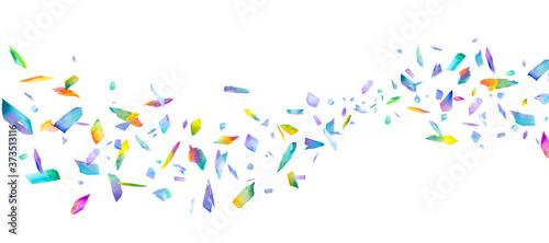 Foto カラフルな光の粒の流れ。プリズムの水彩イラスト。