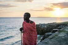 Maasai Man On The Beach