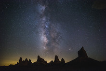 Milky Way Rising Above The Sil...
