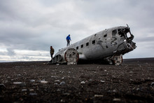 The Fuselage Of A Crashed US Navy DC-3 Plane Near Vik, Iceland.