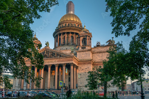 Beautiful St. Isaac's Cathedral in Saint Petersburg, Russia
