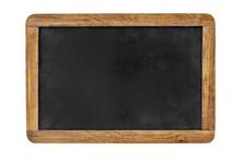 Blank Blackboard Isolated On White