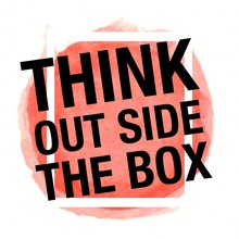 Think Out Side The Box (white ...