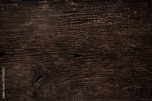 Fotografie, Obraz design of dark wood crack texture background