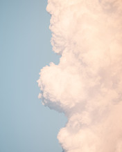 Close Up Of Clouds On Blue Sky