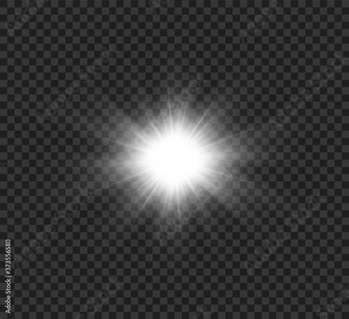 Canvastavla Star explodes on transparent background