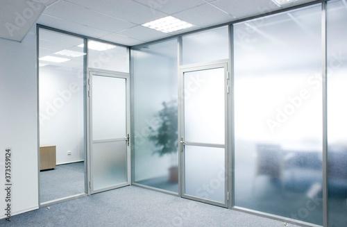 Fototapeta Office glass partitions