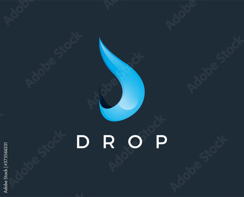 minimal drop logo template - vector illustration Fototapet
