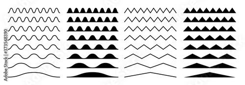 Zigzag borders Fototapet