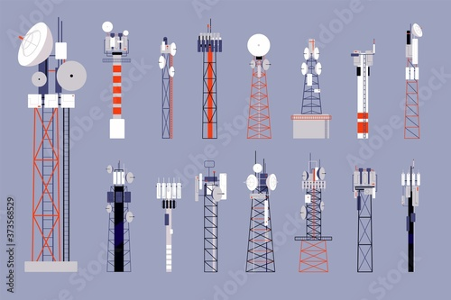Photo Communication towers