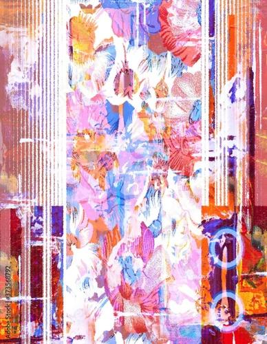 Fototapety, obrazy: Geometric texture repeat creative modern pattern