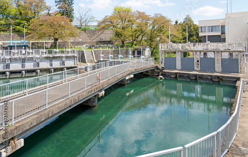 Foto 東京都水道局の羽村導水ポンプ所(東京都羽村市)