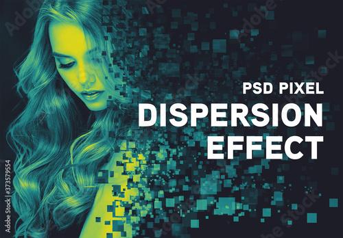 Fototapeta Duotone Pixel Dispersion Effect Mockup