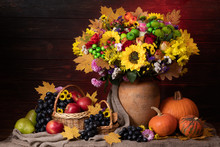 Autumn Still Life With Leaf, S...