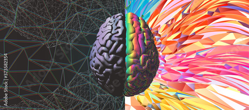 Slika na platnu Functional and power of brain illustration