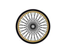 Bicycle Wheel Vector Art Illustration