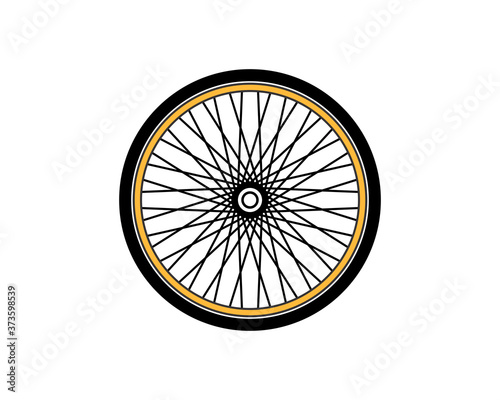 Tablou Canvas Bicycle wheel vector art illustration