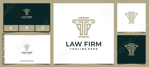 Obraz na plátně law firm loyal legal logo design with business card