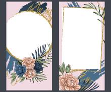 Boho Flowers With Gold Foil, I...