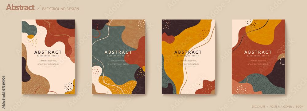 Fototapeta Abstract autumn color flow flyer