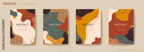 Fototapeta Abstract autumn color flow flyer obraz