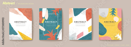 Stampa su Tela Abstract colorful flyer set