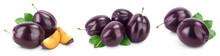 Fresh Purple Plum And Slices W...
