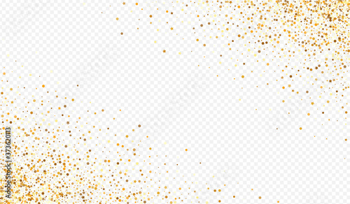 Gold Dot Modern Transparent Background. Rich Fototapete
