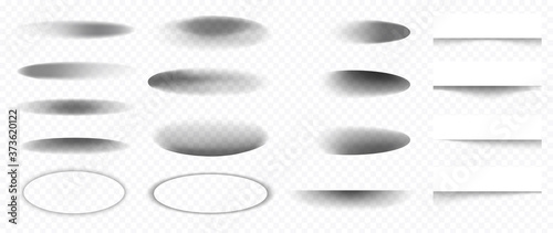 Photo Realistic shadow effect isolated on transparent background Vector