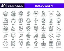 Set Of Halloween Vector Icons ...