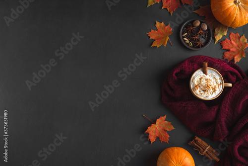 Cuadros en Lienzo Autumn Pumpkin Spice Latte