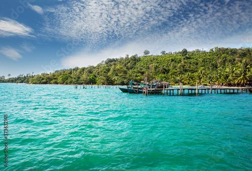 Fototapeta Boat in Cambodia obraz