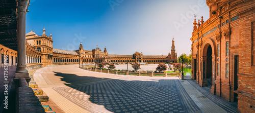 Beautiful view of the Plaza de Espana in Seville in Spain Fototapet