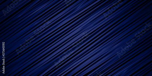 Fotografiet welliger stoff oder in metall gegossene wellen in dunkel blau, schräg 45 grad di
