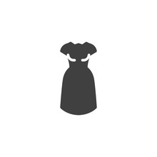 Sleeveless Dress Vector Icon. Filled Flat Sign For Mobile Concept And Web Design. Women Dress Glyph Icon. Symbol, Logo Illustration. Vector Graphics