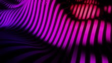 Waving 3D Landscape Of Animated Bands In Purple Hues Looping Seamlessly